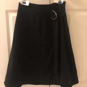 Ann Taylor faux wrap belted midi skirt